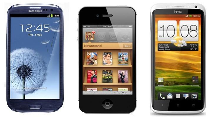Mobiltelefoner i topp